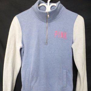 PINK by VICTORIA'S SECRET, half zip sweatshirt, xs